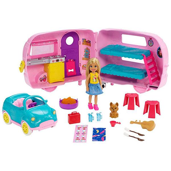 Купить Mattel Barbie FXG90 Барби Фургон Челси, Игровые наборы и фигурки для детей Mattel Barbie