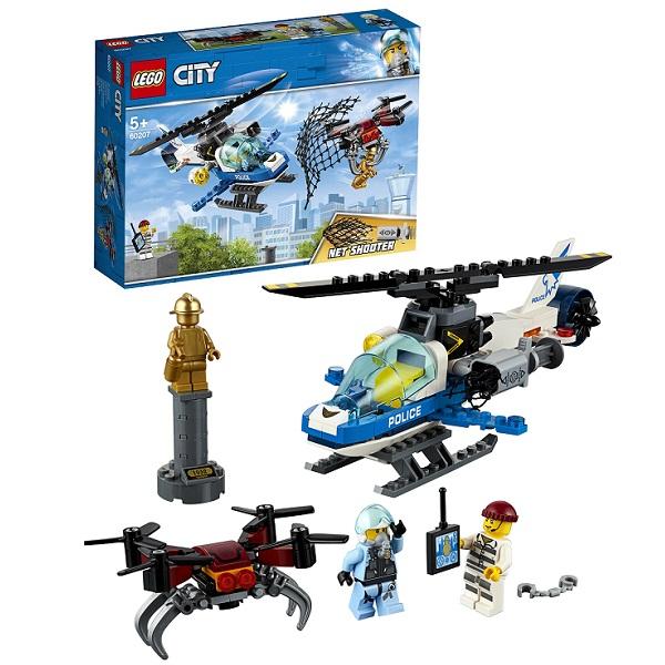 Lego City 60207 Конструктор Лего Город Воздушная полиция: Погоня дронов - Конструкторы LEGO