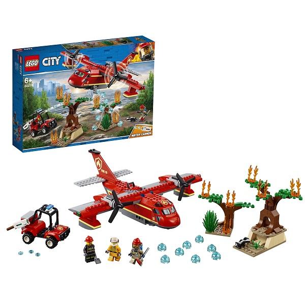 Купить LEGO City 60217 Конструктор ЛЕГО Город Пожарные: Пожарный самолёт, Конструкторы LEGO