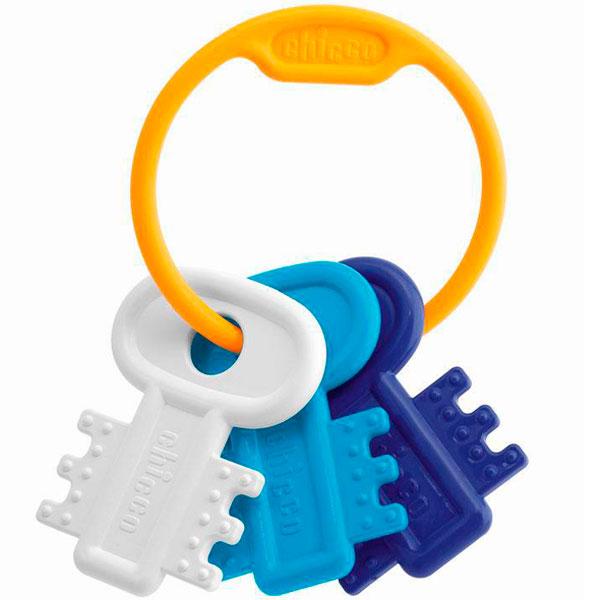 Купить CHICCO TOYS 632162 Погремушка Ключи на кольце голубая от 3 месяцев, Погремушка CHICCO TOYS