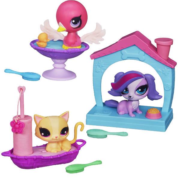 Интерактивная игрушка Hasbro Littlest Pet Shop Littlest Pet Shop A5127 Литлс Пет Шоп Зверюшки с волшебным механизмом и аксессуарами,