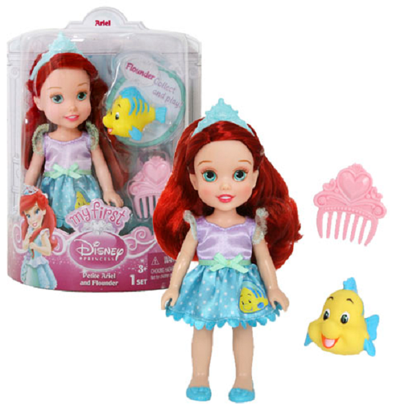 Disney Princess 754910 Принцессы Дисней Малышка с питомцем 15 см (в ассортименте)