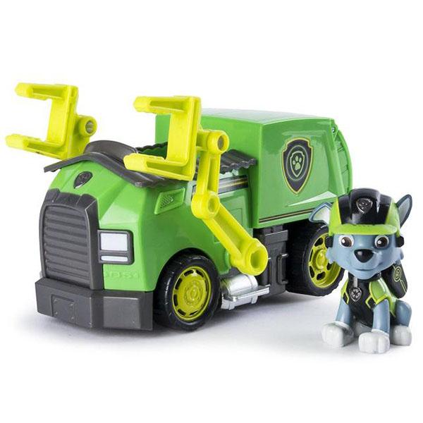 Купить Paw Patrol 16702-Roc Щенячий патруль Машина спасателя со щенком Рокки, Игровой набор Paw Patrol