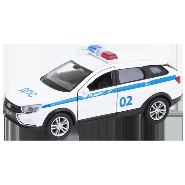 Купить Welly 43763PB Велли Модель машины 1:34-39 LADA VESTA SW CROSS Полиция ДПС, Игрушечные машинки и техника Welly