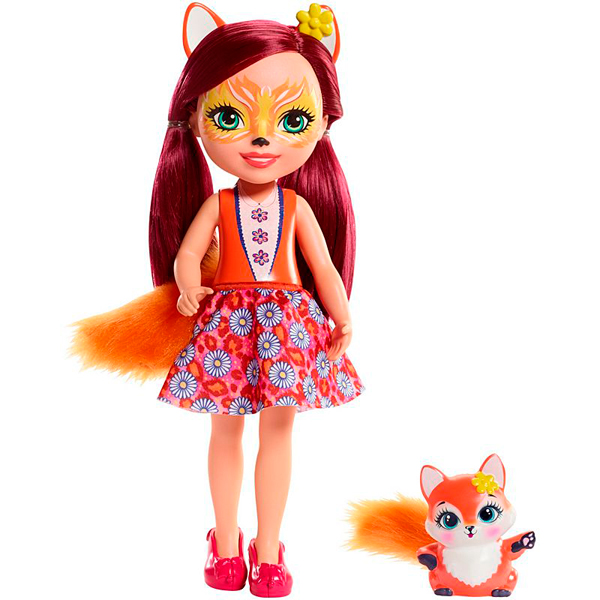 Mattel Enchantimals FRH53 Большая кукла с любимой зверюшкой - Куклы и аксессуары