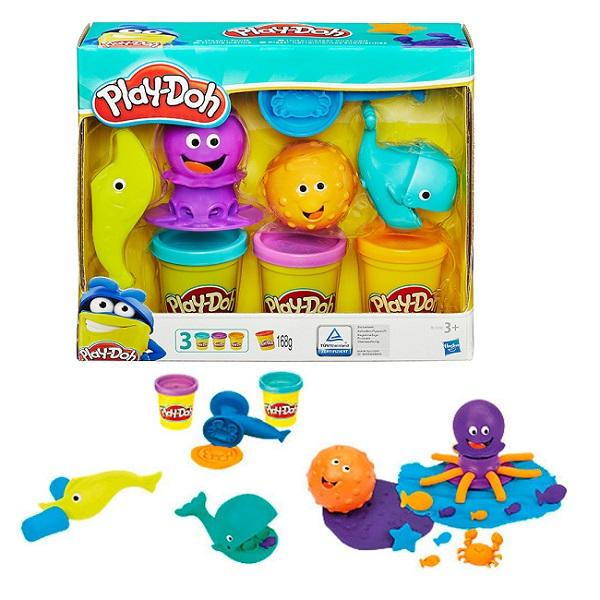 Купить Hasbro Play-Doh B1378 Игровой набор пластилина Подводный мир , Пластилин Hasbro Play-Doh