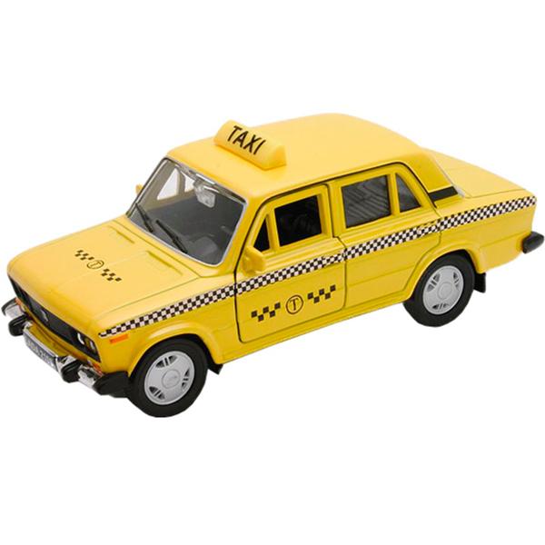 Купить Welly 43644TI Велли модель машины 1:34-39 LADA 2107 ТАКСИ, Машинка инерционная Welly