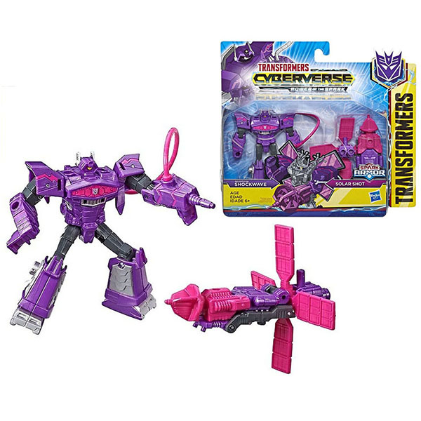 Купить Hasbro Transformers E4219/E4300 Трансформеры КИБЕРВСЕЛЕННАЯ СПАРК АРМОР Шоквейв 13 см., Игрушечные роботы и трансформеры Hasbro Transformers
