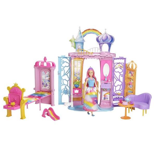 Mattel Barbie FRB15 Барби Переносной радужный дворец - Куклы и аксессуары
