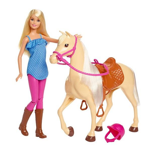 Mattel Barbie FXH13 Барби и лошадь - Куклы и аксессуары