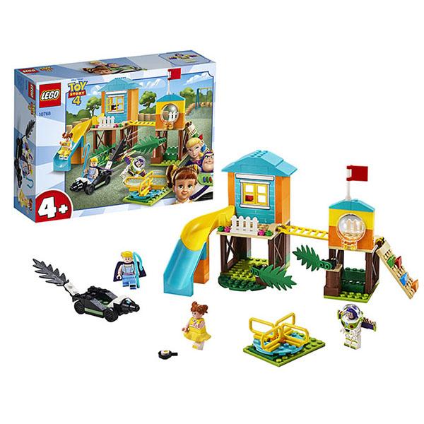 Купить LEGO Juniors 10768 ЛЕГО Джуниорс История игрушек-4: Приключения Базза и Бо Пип на детской площадке, Конструкторы LEGO