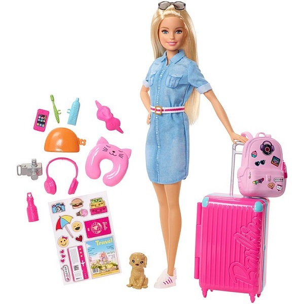 Купить Mattel Barbie FWV25 Барби Кукла из серии Путешествия, Куклы и пупсы Mattel Barbie