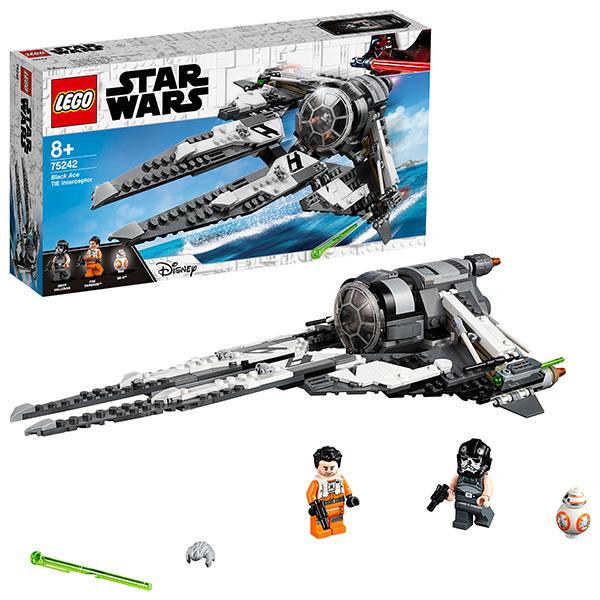Купить LEGO Star Wars 75242 Конструктор Лего Звездные Войны СИД Перехватчик Чёрный АС, Конструкторы LEGO