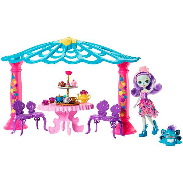 Купить Mattel Enchantimals FRH49 Набор Чаепитие Пэттер Павлины и Флэпа , Кукла Mattel Enchantimals