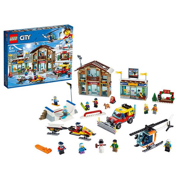 Купить LEGO City 60203 Конструктор ЛЕГО Город Горнолыжный курорт, Конструкторы LEGO