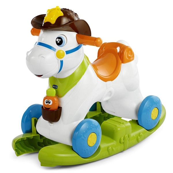 Купить CHICCO TOYS 7907AR Каталка-качалка Chicco Лошадка Baby Rodeo 12м+