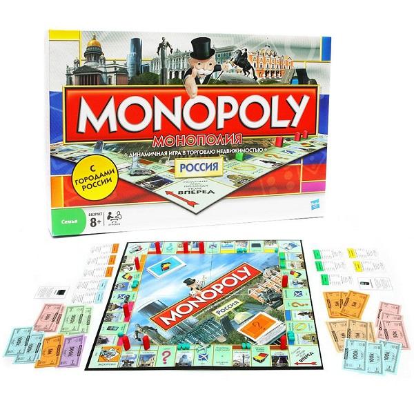 Hasbro Monopoly 01610 Настольная игра Монополия-Россия