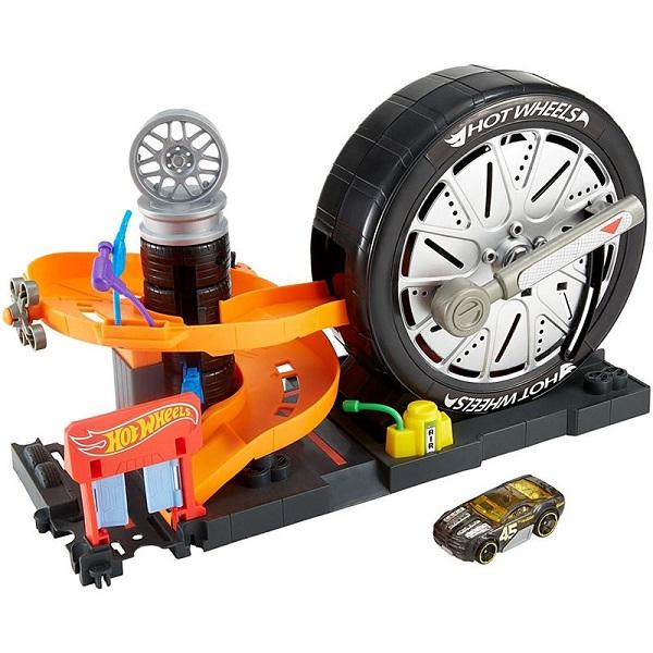 Купить Mattel Hot Wheels FNB17 Хот Вилс Сити Игровой набор Вращение колес , автотрек Mattel Hot Wheels
