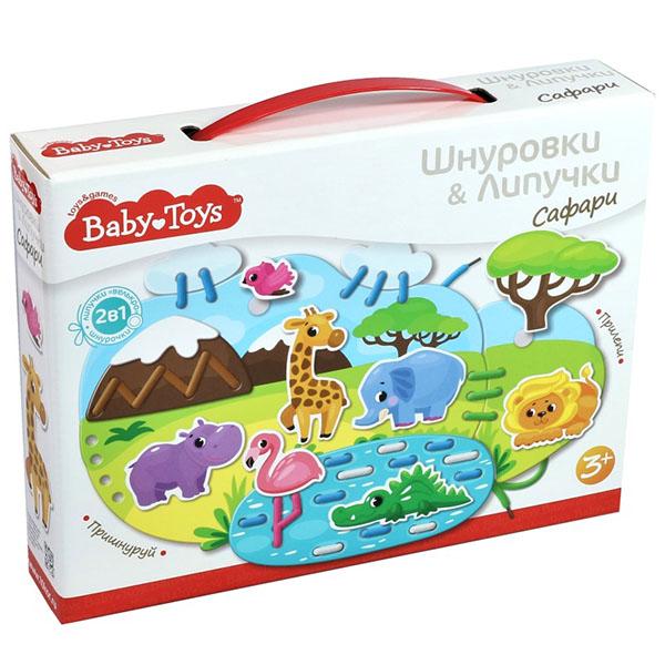 Купить Десятое королевство TD02928 Шнуровки и липучки. Сафари BABY TOYS, Развивающие игрушки для малышей Десятое Королевство