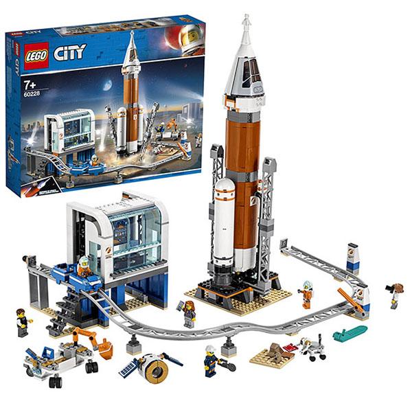 Купить LEGO City 60228 Конструктор ЛЕГО Ракета для запуска в далекий космос и пульт управления запуском, Конструктор LEGO