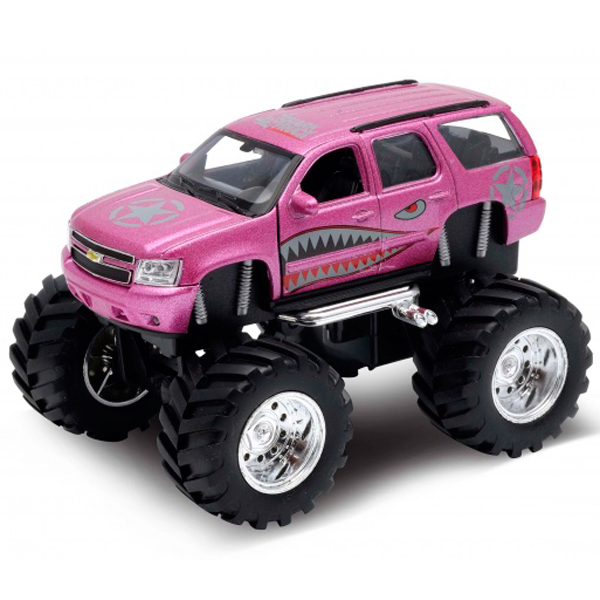 Купить Welly 47002S Велли Модель машины 1:34-39 Chevrolet Tahoe Big Wheel Monster, Машинка Welly