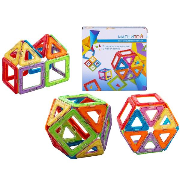 Купить Магнитой LL-1003 Конструктор магнитный 6 квадратов, 8 треугольников , Конструкторы Магнитой