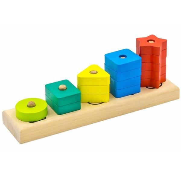 Купить Alatoys 4002ALLA Пирамидка Счеты , Деревянные игрушки Alatoys