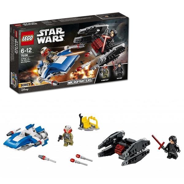 Купить Lego Star Wars 75196 Лего Звездные Войны Истребитель типа A против бесшумного истребителя СИД, Конструкторы LEGO