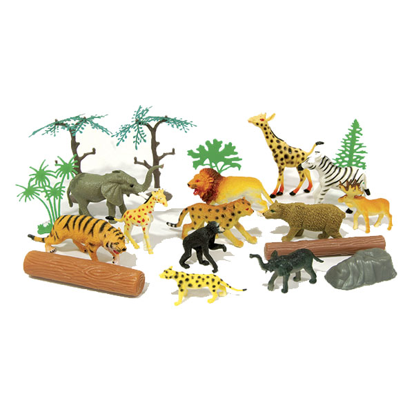 Купить Boley 33802TR Игровой набор Рюкзачок В мире животных в комплекте 20 шт, Игровой набор Boley