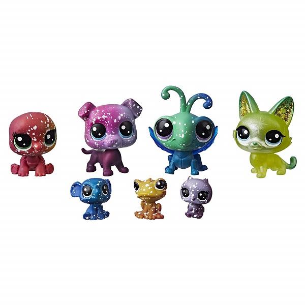 Купить Hasbro Littlest Pet Shop E2129 Литлс Пет Шоп 7 космических петов, Игровые наборы и фигурки для детей Hasbro Littlest Pet Shop