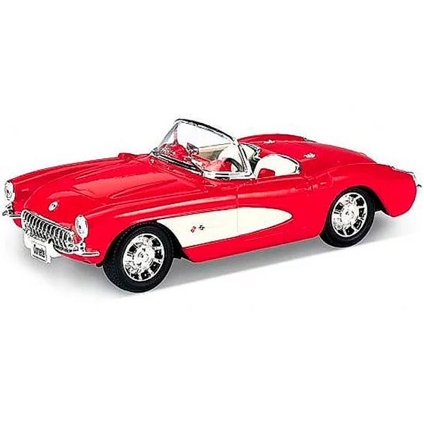 Купить Welly 42360 Велли Модель винтажной машины 1:34-39 Chevrolet Corvette 1957, Машинка инерционная Welly