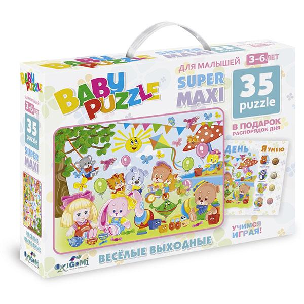 Купить Origami AST185973 Для Малышей Пазл Веселые выходные Мой день, Пазлы Оригами