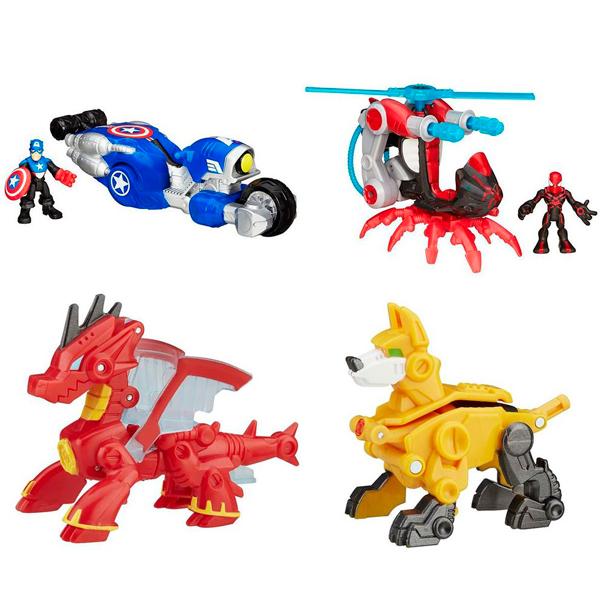 Hasbro Playskool Heroes B4954N Трансформеры спасатели: Друзья-спасатели + Трансформеры спасатели, арт:151466 - Супергерои, Игровые наборы