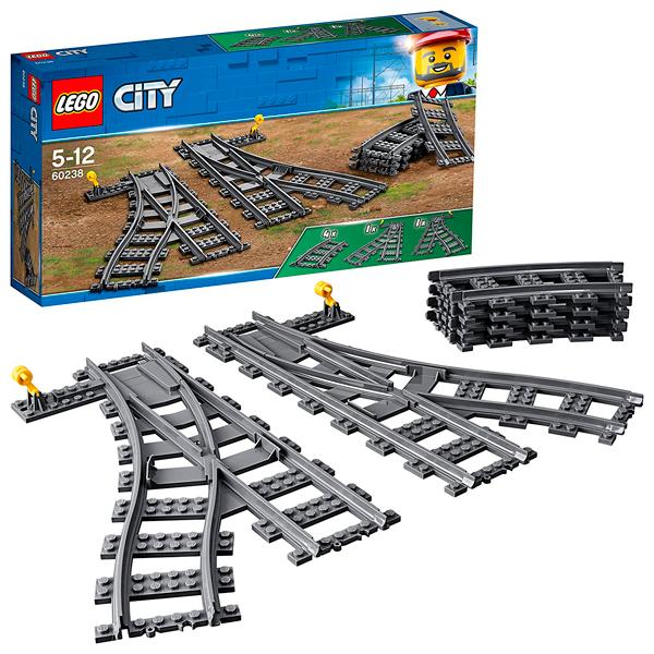 Купить Lego City 60238 Конструктор Лего Город Железнодорожные стрелки, Конструктор LEGO