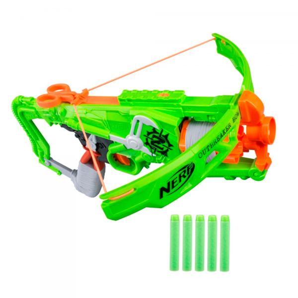 Купить Hasbro Nerf B9093 Нерф Бластер Зомби Страйк Аутбрейкер, Игрушечное оружие Hasbro Nerf