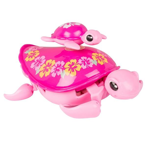 Купить Little Live Pets 28415 Интерактивная черепашка с малышом розовая, Интерактивная игрушка Little Live Pets