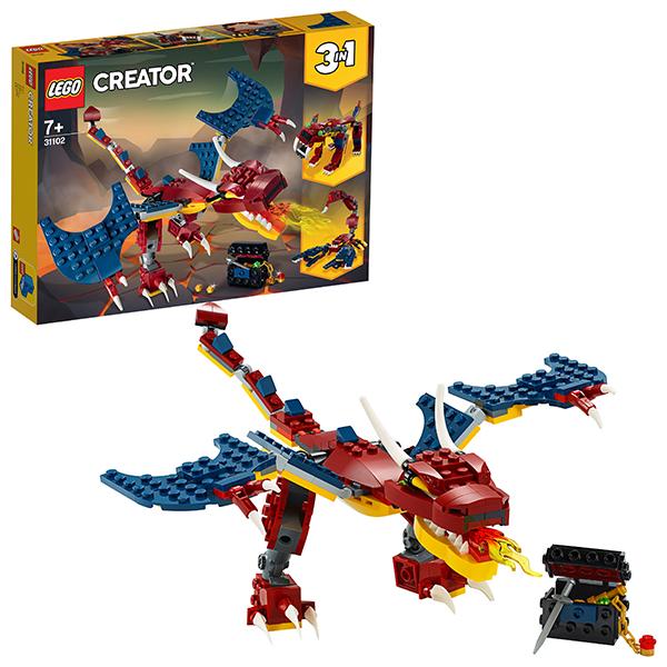 Конструкторы LEGO — LEGO Creator 31102 Конструктор ЛЕГО Криэйтор Огненный дракон