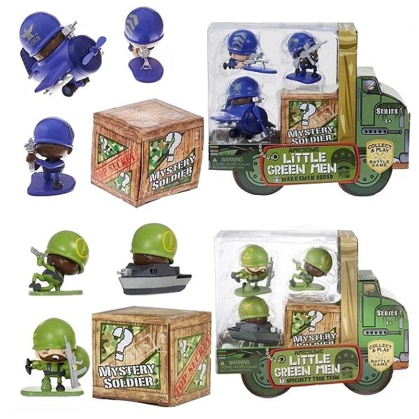 ALGM 547457 Awesome Little Green Men 4 фигурки, арт:155632 - Мини наборы, Игровые наборы