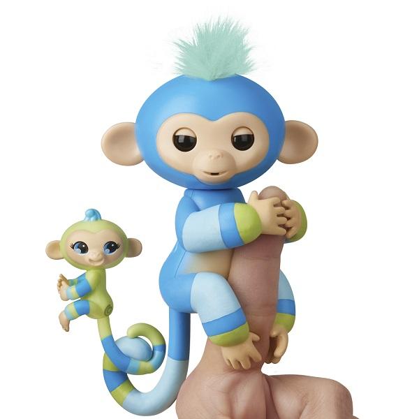 FINGERLINGS 3541M Интерактивная обезьянка Билли с малышом, 12 см - Интерактивные игрушки