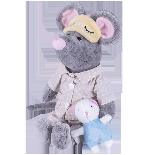 Купить SOFTOY S886/20 Мягкая игрушка Мышь в пижаме, 36см, Мягкие игрушки SOFTOY