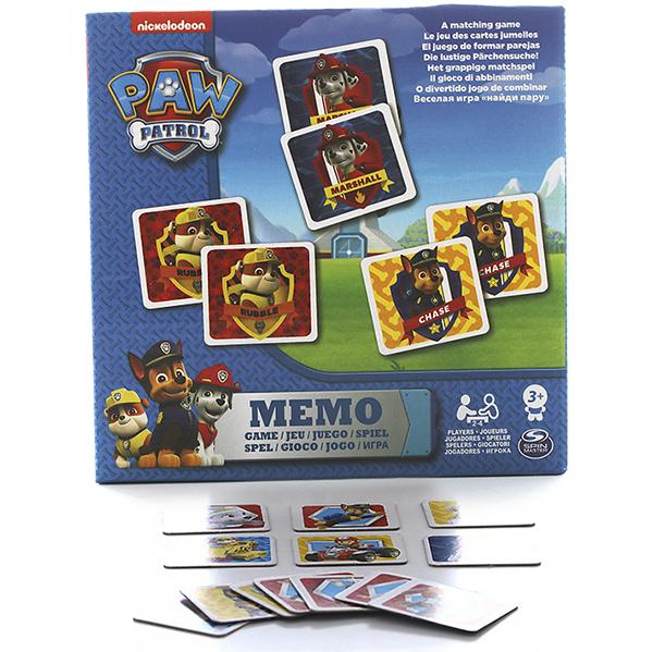 Купить Paw Patrol 6033326 Щенячий патруль Мемори, 48 карточек, Настольная игра Paw Patrol