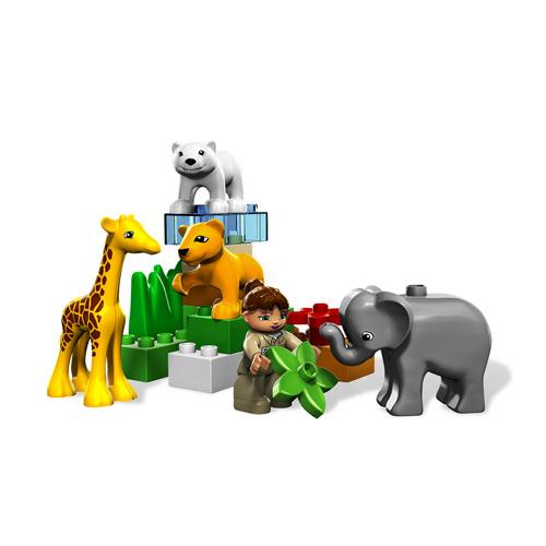 Lego duplo конструктор зоопарк для малышей