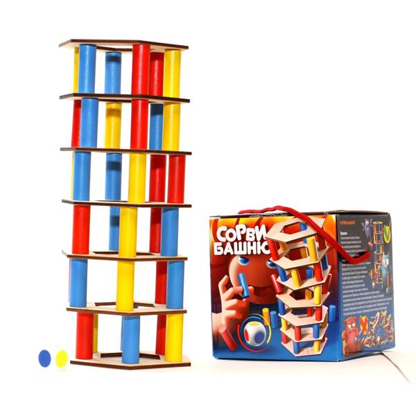 Купить Десятое королевство TD02986 Игра для всей семьи Сорви башню (цветная)