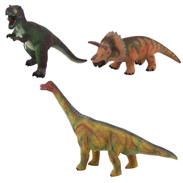 Купить Игрики ZOO TAV024 Фигурка мягконабивная Динозавры со звуком, 3 вида (в ассортименте), Игровые наборы и фигурки для детей Игрики ZOO