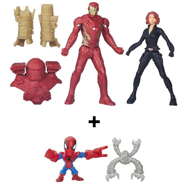 Hasbro Avengers B6431N Марвел разборные микро-фигурки + набор из 2 фигурок Мстителей, арт:151480 - Супергерои, Игровые наборы