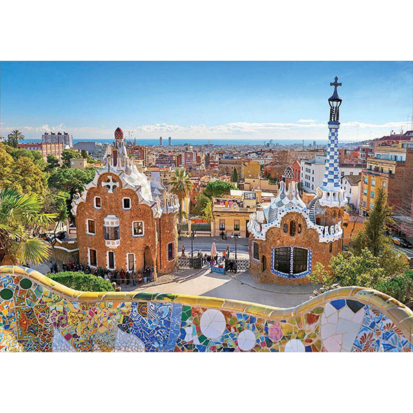 Educa 17966 Пазл 1000 деталей Вид на Барселону из парка Гуэля - Настольные игры