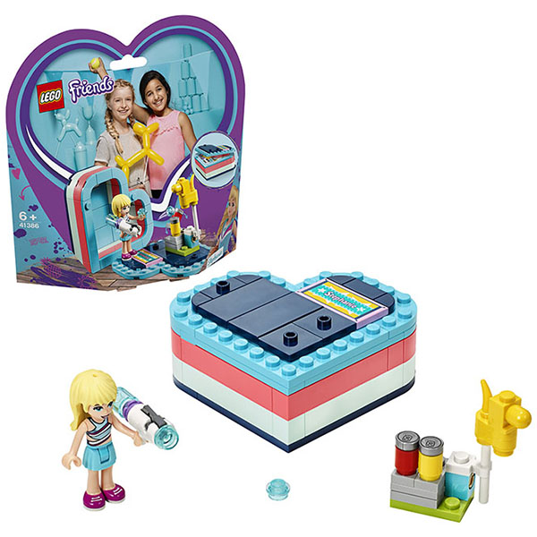 Купить LEGO Friends 41386 Конструктор ЛЕГО Подружки Летняя шкатулка-сердечко для Стефани, Конструкторы LEGO