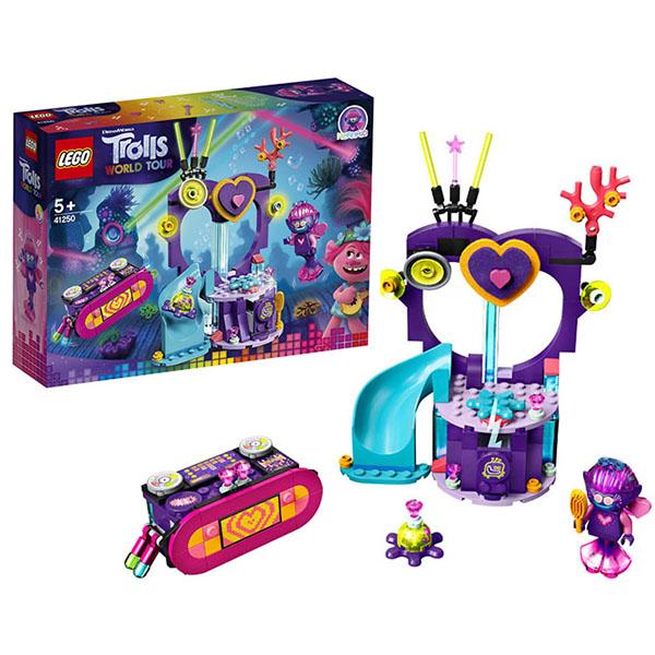 Купить LEGO Trolls 41250 Конструктор ЛЕГО Тролли Вечеринка на Техно-рифе, Конструкторы LEGO