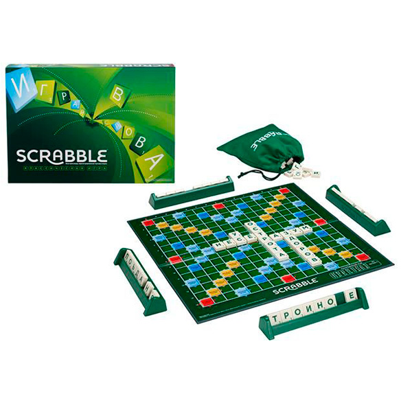 Купить SCRABBLE Y9618 Скрабл классический, Настольная игра Mattel Games
