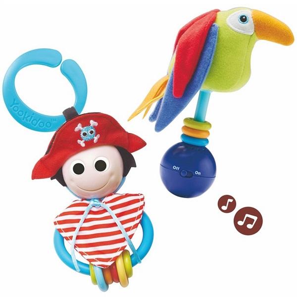 """Развивающие игрушки для малышей Yookidoo 40118 Набор игровой """"Пират и его попугай"""" фото"""